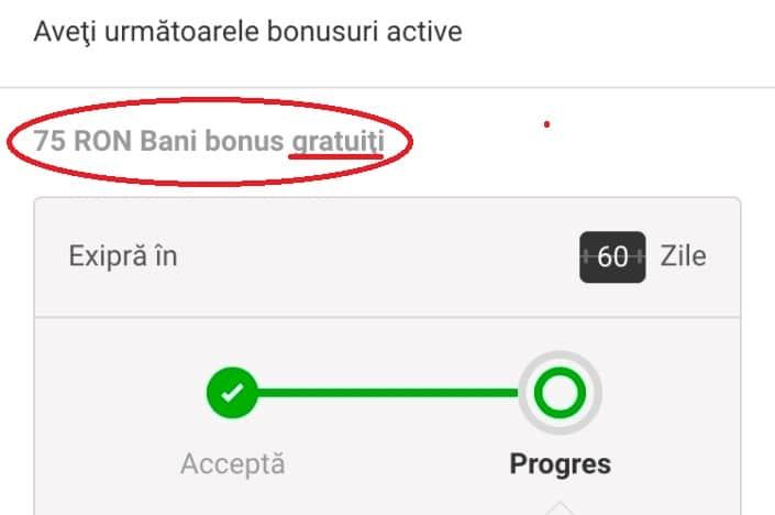 Exemplu de bonus fara depunere la Unibet